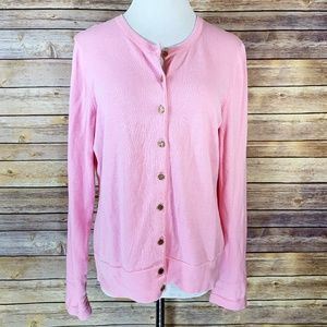 Lilly Pulitzer Light Pink Button Front Cardigan